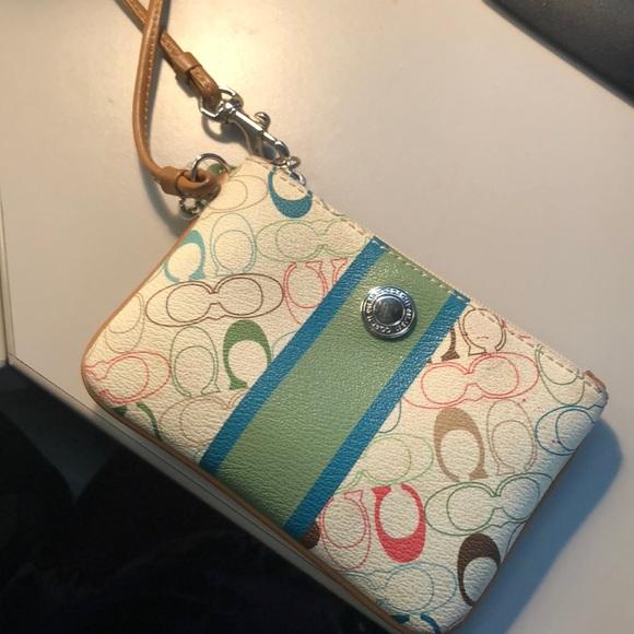 Coach Handbags - Coach colored wristlet